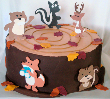 A Sweet Cake 187 Woodland Animals