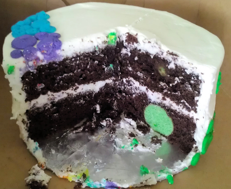 Rainbow St. Patricks Cake - Inside