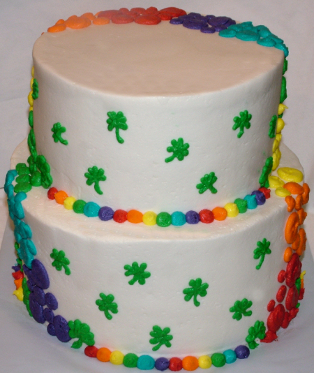 Rainbow St. Patricks Cake