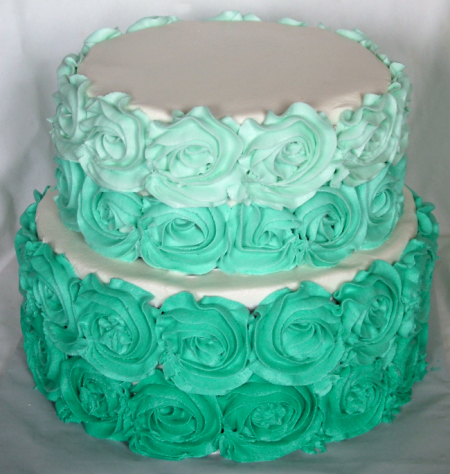 Roses are Teal - A Sweet Cake