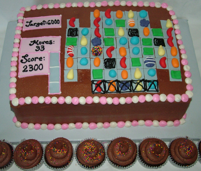 Candy Crush Cake - A Sweet Cake