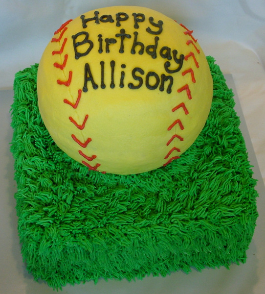 Softball Cake - A Sweet Cake